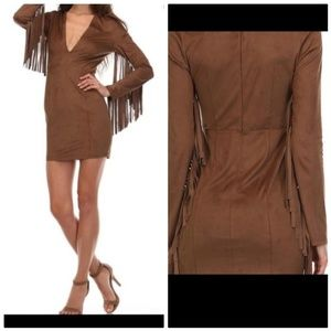 MAKERS OF DREAMS NEW FRINGE FAUX SUEDE FESTY DRESS